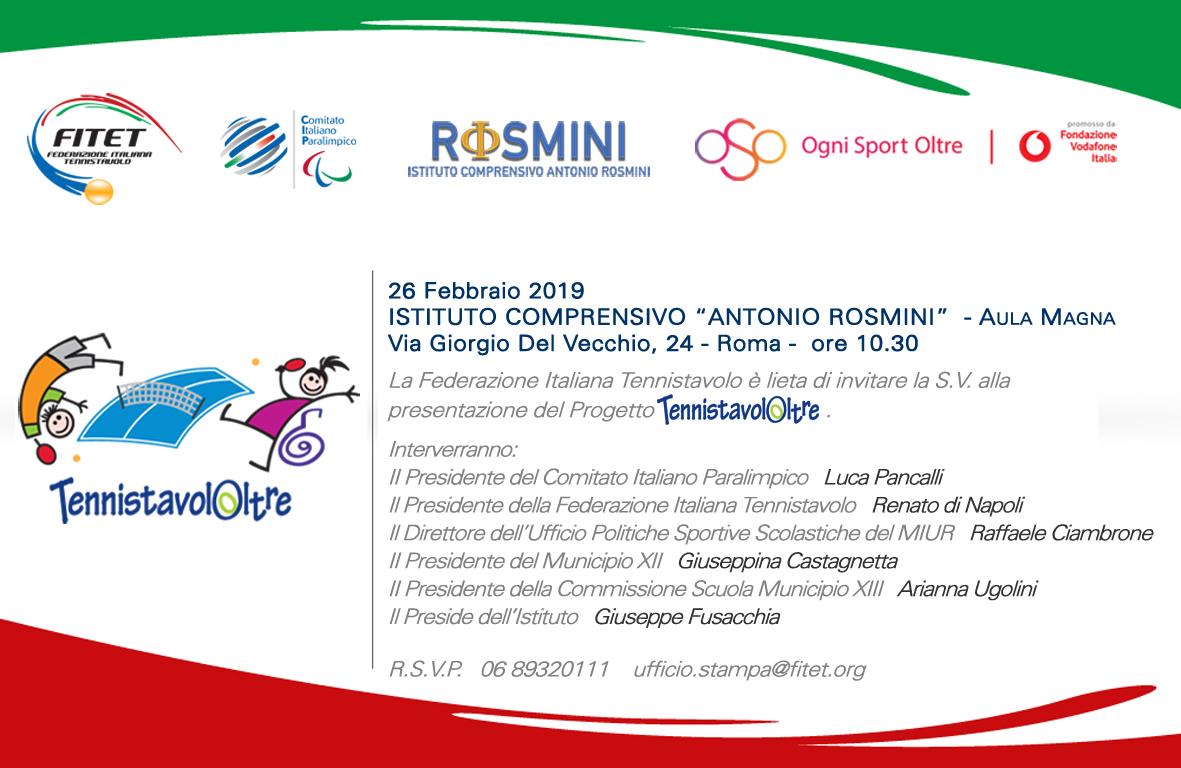 invito TennistavolOltre scuola Rosmini 2019Feb DFN
