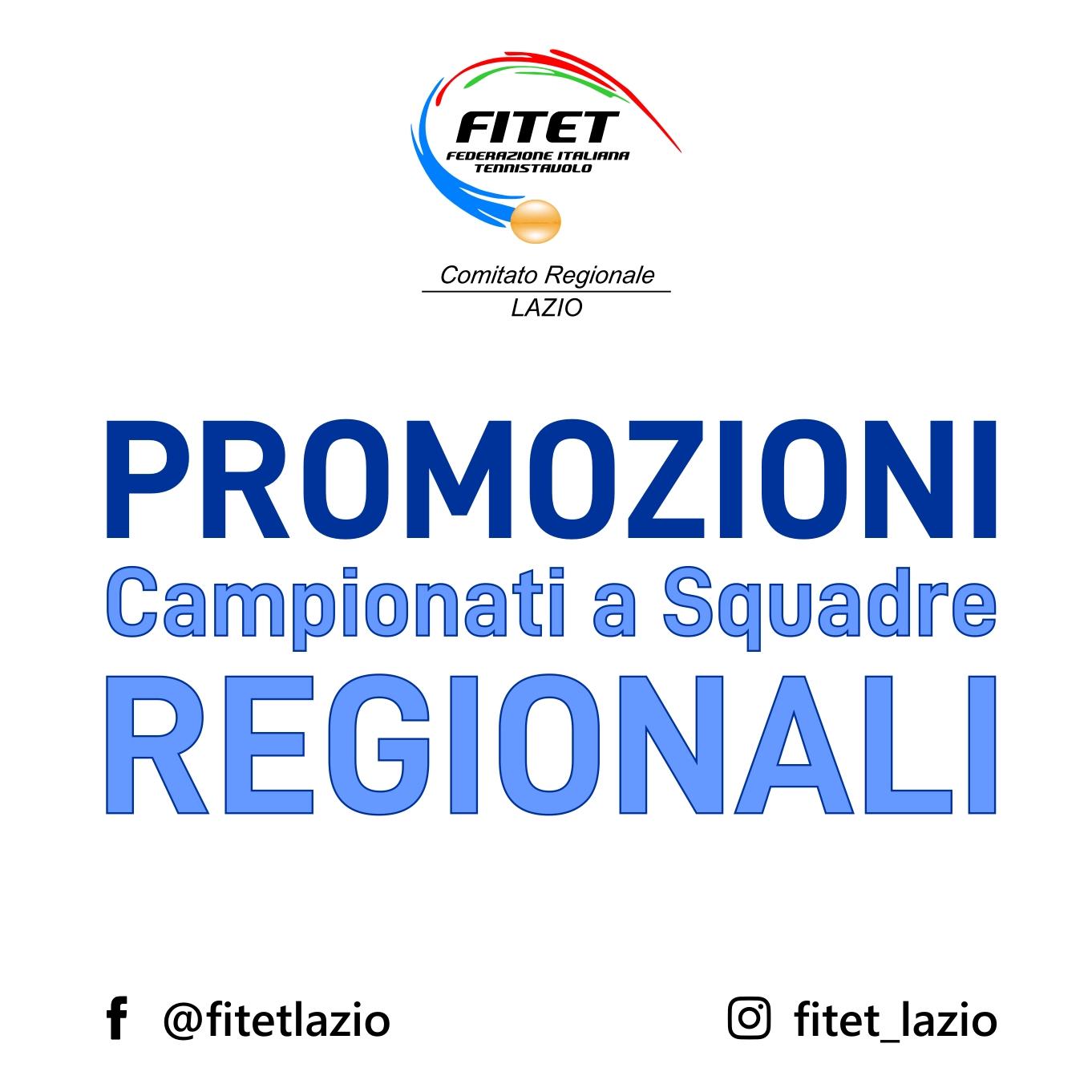 Promozioni Lazio